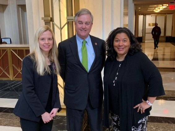 David Trone with MHLG Chair Laurel Stine and CSOO Chair Kelly Corredor
